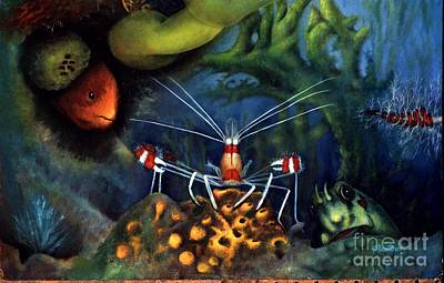 Painting - Sea Shrimp by Lynn Buettner