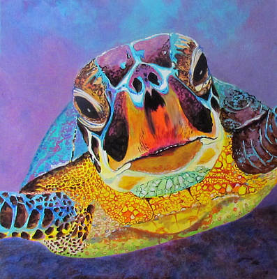 Painting - Sea Turtle In Grand Cayman by Susan Duxter