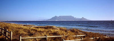 Table Mountain Photograph - Sea With Table Mountain by Panoramic Images