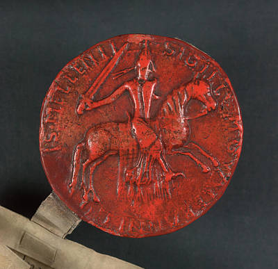 Aristocrat Photograph - Seal Of Waleran De Beaumont by British Library