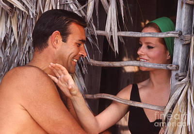 Actor Photograph - Sean Connery And Luciana Paluzzi by The Harrington Collection