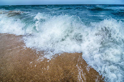 Photograph - Seascape With Waves And Sand Beach by Alex Grichenko