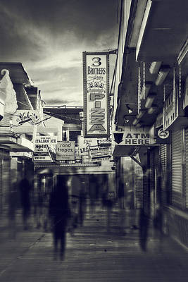 Seaside Heights Photograph - Seaside Boardwalk by Kim Zier