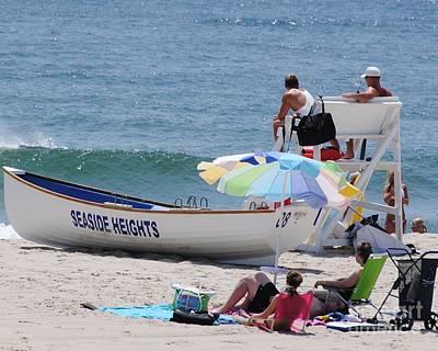 Seaside Heights Photograph - Seaside Heights Lifeguard by Daniel Diaz