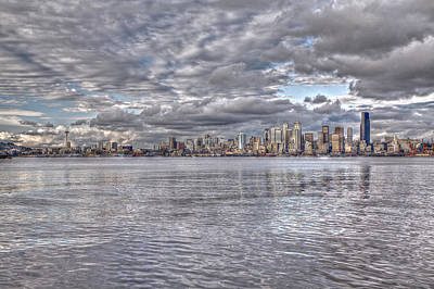 Photograph - Seattle Cityscape In Clouds by SC Heffner