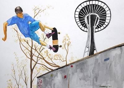 Seattle Skate Original by Craig Kennedy