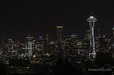 Photograph - Seattle Skyline 1 by Cassius Johnson