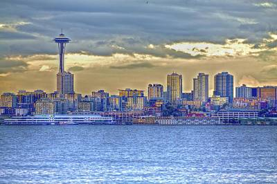 Photograph - Seattle Skyline In Twilight by SC Heffner