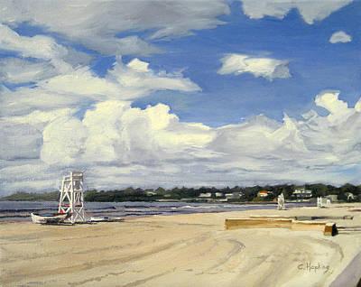Shell Beach Inn Painting - Second Beach Newport Rhode Island by Christine Hopkins