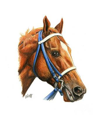 Horse Racing Painting - Secretariat With Racing Bridle by Pat DeLong
