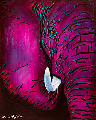 Painting - Seeing Pink Elephants by Dede Koll