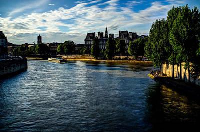 Ile St Louis Photograph - Seine by David Tuthill