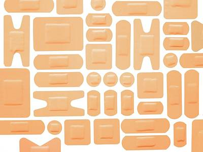 Large Group Of Objects Photograph - Selection Of Adhesive Plasters by Science Photo Library