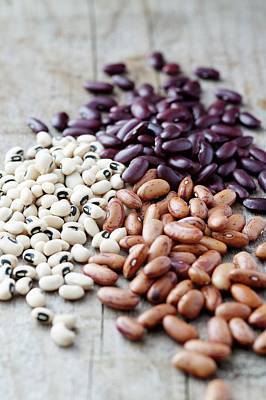 Black Diet Photograph - Selection Of Dried Beans by Gustoimages