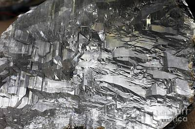 Selenite Mineral Sample Art Print