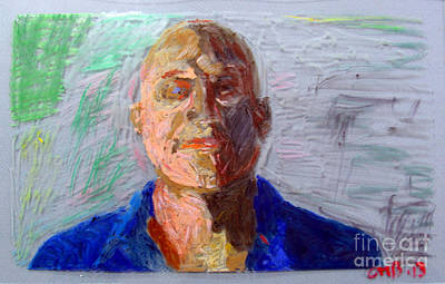 Expressionist Painting - Self-portrait by Greg Mason Burns