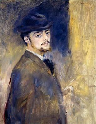 Cambridge Painting - Self-portrait by Pierre-Auguste Renoir