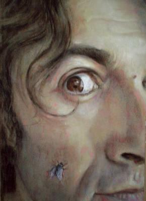 Selfportrait With Fly Art Print by Paez  ANTONIO
