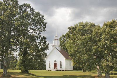 Photograph - Selma United Methodist Church Summertime by Robert Camp