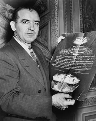 Joseph Photograph - Senator Joseph R. Mccarthy by Underwood Archives