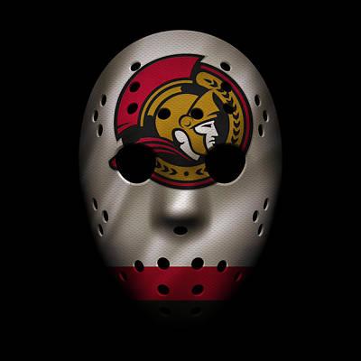 Ottawa Photograph - Senators Jersey Mask by Joe Hamilton