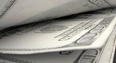 Split Digital Art - Separated Banknotes Close-up Detail by Allan Swart