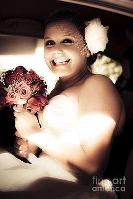 Exuberant Photograph - Sepia Tone Bride by Jorgo Photography - Wall Art Gallery
