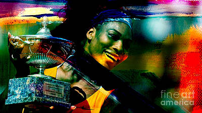 Serena Williams Mixed Media - Serena Williams by Marvin Blaine