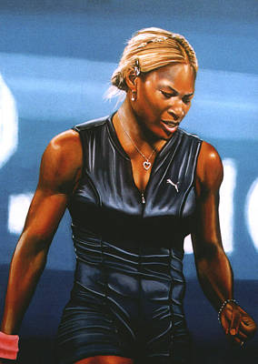 Australian Open Painting - Serena Williams by Paul Meijering