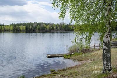 Photograph - Serene Lake View by Kennerth and Birgitta Kullman