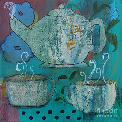 Tea Party Painting - Serene Tea by Robin Maria Pedrero