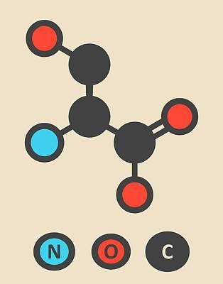 Serine Amino Acid Molecule Art Print