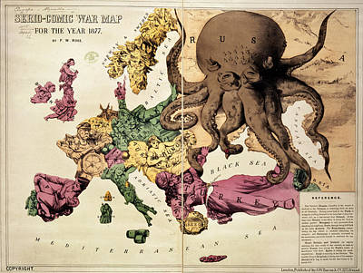Cartography Photograph - Serio-comic War Map by British Library