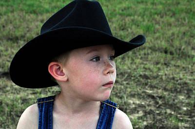 Photograph - Serious Cowboy by Teresa Blanton