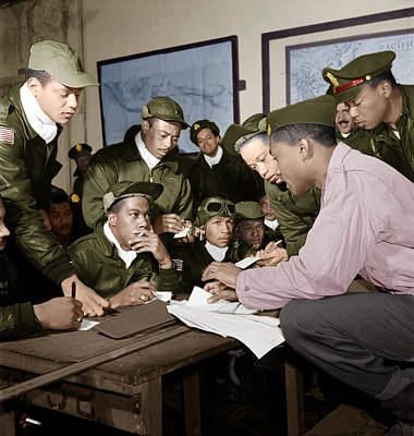 Photograph - Several Tuskegee Airmen At Ramitelli by Celestial Images