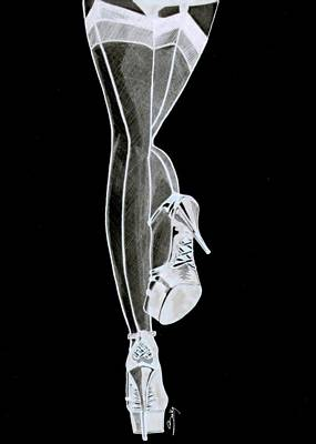 Painting - Sexy Legs by Saki Art