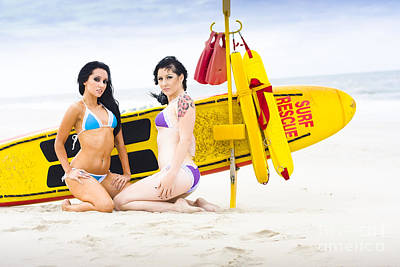 Surf Lifestyle Photograph - Sexy Lifesaver Beach Patrol by Jorgo Photography - Wall Art Gallery