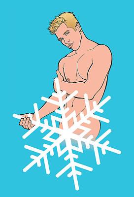 Sexy Snowman A Art Print