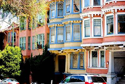 Sf Rowhouses Art Print by Mamie Gunning