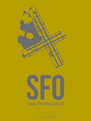 Sfo San Francisco Airport Poster 2 Art Print