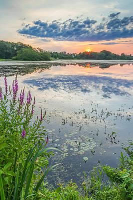 Rehoboth Photograph - Shad Sunset by Bryan Bzdula