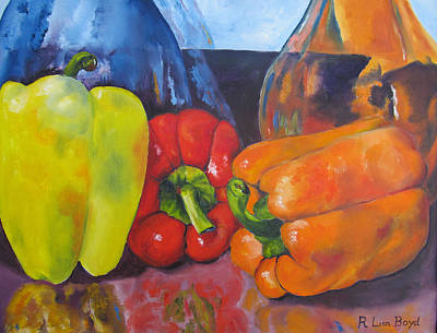 Painting - Shades Of Peppers by Lisa Boyd