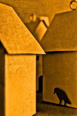 Surrealism Royalty-Free and Rights-Managed Images - Shadow Of A Crow by Jeff  Gettis