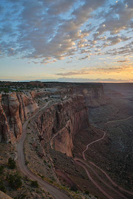 Photograph - Shafer Trail Sunrise by Ray Mathis