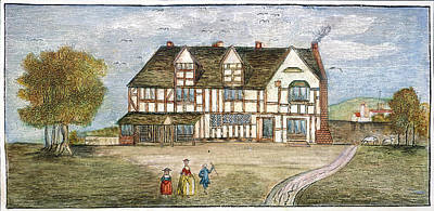 Stratford Painting - Shakespeare Birthplace by Granger