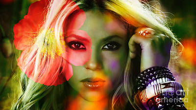 Shakira Mixed Media - Shakira by Marvin Blaine