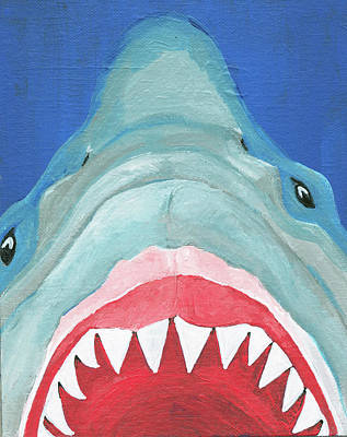Shark Painting - Shark by Anne Seay