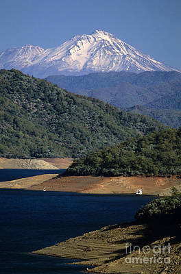 Photograph - Shasta Lake With Mount Shasta by Jim Corwin
