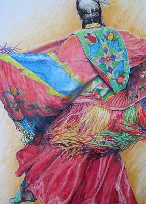 Drawing - Shawl Dancer by Sharon Sorrels