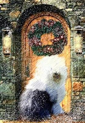 Mixed Media - 1 Sheepdog by Cathy Howard